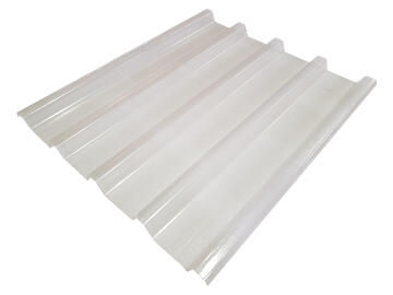 Fibreglass Roof Sheet IBR 2.4m Clear