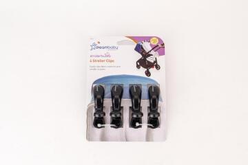 Stroller Clips 4P Black