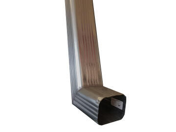 Galvanized Steel Square Downpipe 100mm x 75mm x 2.7m Soldered Shoe PREMIER