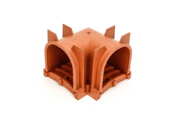 PVC Drain Corner Terra Cotta WATERFORM