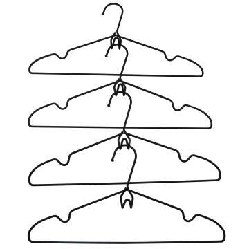 4pc Hanger Stackable Metal Black