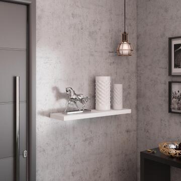 Floating shelf white 80x23cm