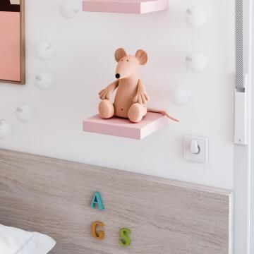Floating shelf pink 23x23cm