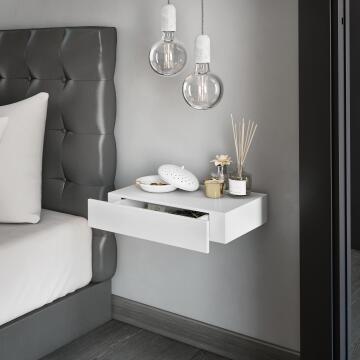 Floating drawer white 40x25cm