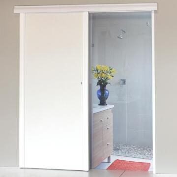 Interior Sliding Door kit with sliding mechanism MDF White-w890xh2050mm