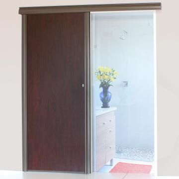 Interior Sliding Door kit with sliding mechanism MDF Mahogany-w890xh2050mm