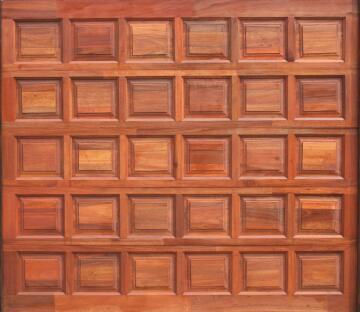 Garage Door Sectional Meranti Wood 30 Panel-Single-w4950xh2170mm