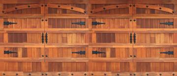 Garage Door Sectional Meranti Wood Barn-Double-w4950xh2170mm