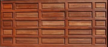 Garage Door Sectional Meranti Wood Tuscan with Studs-Double-w4950xh2170mm