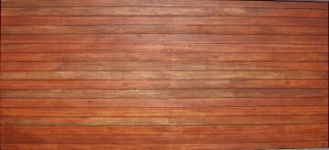 Garage Door Sectional Meranti Wood Horizontal Slats No Finger Joint-Double-w4950xh2170mm
