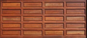 Garage Door Sectional Meranti Wood 10 Panel-Double-w4950xh2170mm