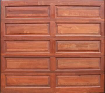 Garage Door Sectional Meranti Wood 10 Panel-Single-w2500xh2170mm