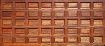 Garage Door Sectional Meranti Wood 20 Panel-Double-w4950xh2170mm
