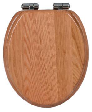 Toilet seat soft close natural oak finish Sensea Karmel
