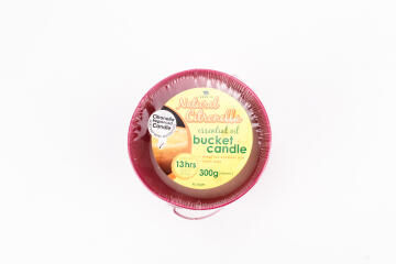 300G Citronella Bucket Candle Yellow