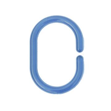 Shower Rings plastic SENSEA blue 12 pieces
