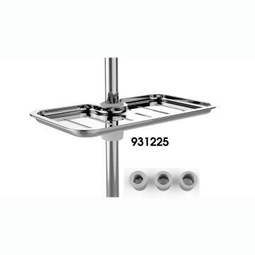 Soap dish plato chrome with rail adaptators SENSEA