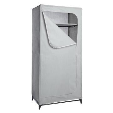 Portable wardrobe with 1 shelf H160cm x W75cm x D45cm