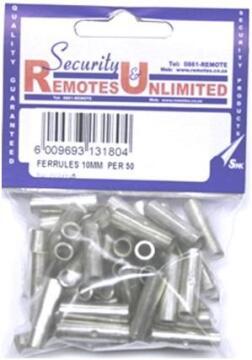 FERRULES 10MM PLATED COPPER X50