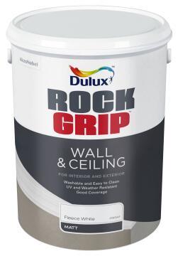 Interior & exterior paint DULUX ROCKGRIP Fleece White matt 5L