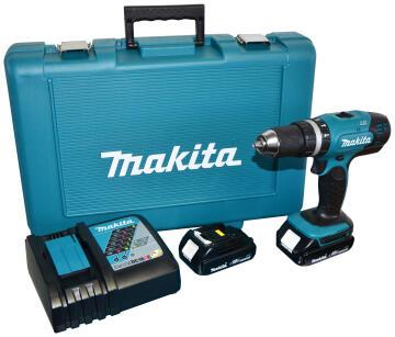 Impact drill cordless MAKITA DHP 453RYE 18v 2 bat Li 1.5Ah