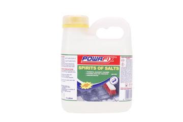 Heavy duty cleaner spirit of salts POWAFIX 1 litre