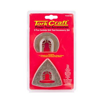 Oscilating carbide grit kit 2 pieces TORKCRAFT