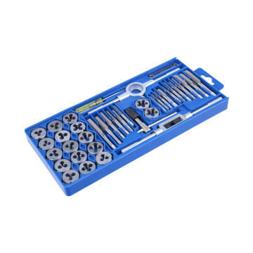 Set of 39 tap and die in a plastic case