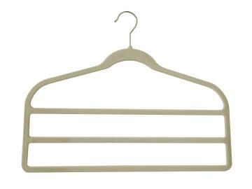 3 Bar flocked hanger beige Spaceo