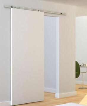 Sliding Mechanism Samba ARTENS for Wooden Door up to 30kg and 930mm wide with Grey Visible Rail