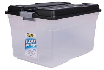 56L Clear Storage Box Addis