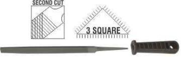 File AFILE three squares 2nd cut 150mm