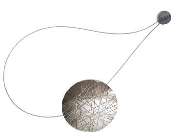 Curtain Tie Back Magnetic LIC Matt Aluminiun Milena