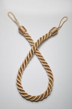 Curtain Tie Back Cream Rope