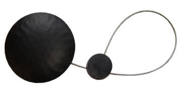 Curtain Tie Back Magnetic Black Disc