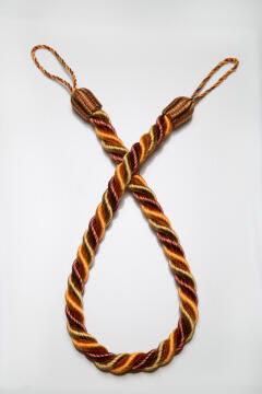 Curtain Tie Back Orange,Gold & Copper Rope