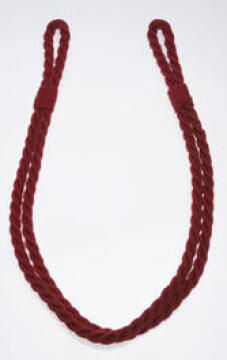 Curtain Tie Back Red Jute Rope