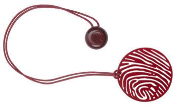 Curtain Tie Back Magnetic Metallic Zebra Red