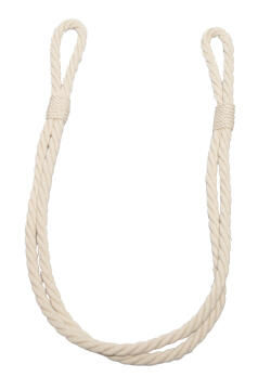 Curtain Tie Back Off White Jute Rope