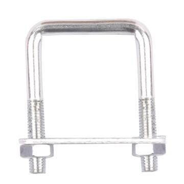 Square u-bolt clamp with plate and nuts 6x31mm standers