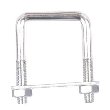 Square u-bolt clamp with plate and nuts 8x43mm standers