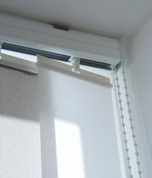 Vertical Blind Panel Rail 89mm Lateral Opening 160cm