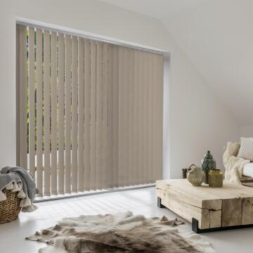 Vertical Blind Panel H260 Alaska Viole Taupe 89mm