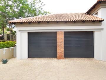 Garage Door Sectional Aluminium Stripe Charcoal-Single-w2440xh2140mm