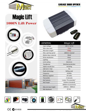 Garage motor 1000N MAGIC DOORS