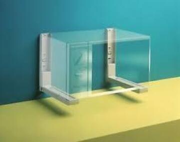 Microwave shelf adjustable 33 to 53 cm