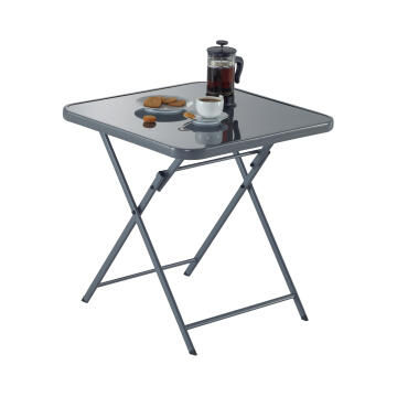 Table Emys Steel Dark Grey 70 cm X 70 cm NATERIAL