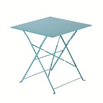 NATERIAL FLORA ORIGAMI TABLE FULL STEEL AQUA 70X70