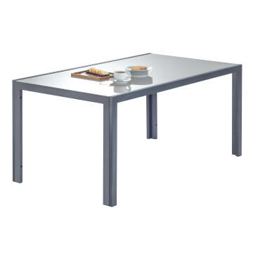Table Lyra Aluminium Dark Grey 160 X 90 cm NATERIAL