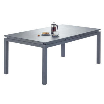 Table Odyssea Aluminium Dark Grey Extendable 180/240 NATERIAL
